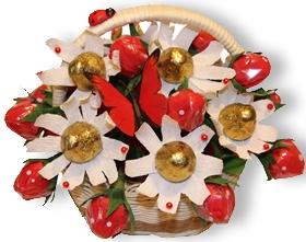 L002.99 Букет из конфет Ягодки, клубнички