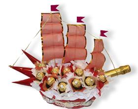 L002.126 Букет из конфет На парад