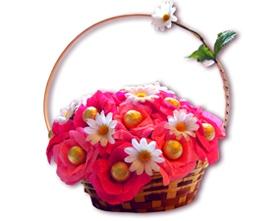 L002.15 Подарочная корзина букет из конфет «Вдохновение»
