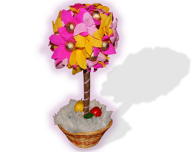 L002.21 Праздничный букет из конфет «Волшебное дерево»