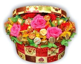 L002.20.1 Праздничный букет из конфет «Шкатулка с сюрпризом»