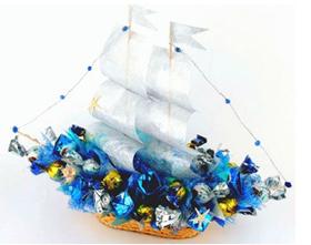 L002.24 Праздничный букет из конфет «По волнам»