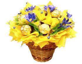 L002.27 Конфетный букет «Весенние цветы»