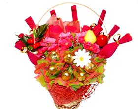 L002.32 Праздничный букет из конфет «Веселые нотки»