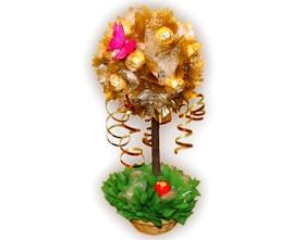 L002.21.1 Праздничный букет из конфет Золотое дерево