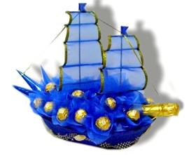 L002.52 Праздничный букет из конфет Морское путешествие