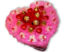 L002.66 Подарочный букет из конфет От всего сердца