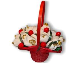 L002.72 Букет из конфет Ягодки, цветочки...