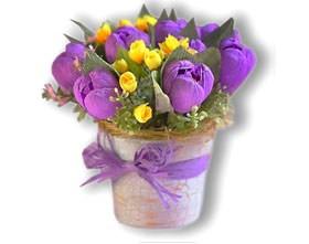 L002.76 Праздничный букет из конфет Лютики, цветочки...